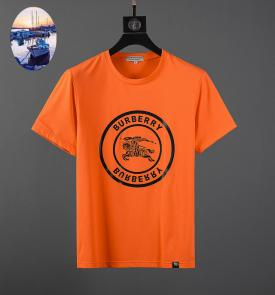 burberry t-shirt sale  england mercerized cotton 003 orange